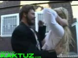 Hot blonde bitch fucked in public