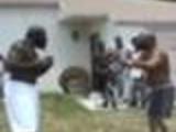 2 BIG black guys go at it bareknuckles