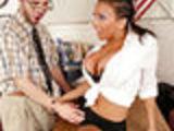 Girl seduces nerd