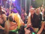 Club full of drunks and poppers turns into a big orgy