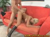 Blonde bombshell Tanya James railed by a big dick