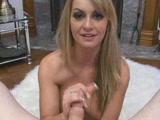 Sexy bitch gives a hot handjob