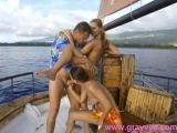 Two sluts get fucked while out on a sailing trip