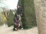 Sexy girl fucked in a public park