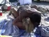 Interracial sex at the beach