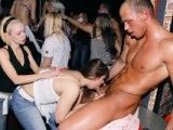 Hardcore sex party in a club