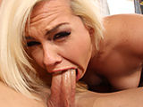 Blonde cocksucker makin the cock disappears in mouth!