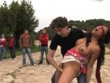 Teen Gets Humiliated Outdoors