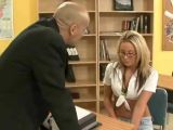 Hot college girl fucks her teacher
