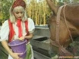 Farmergirl gets naughty