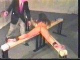 BDSM belt spanking