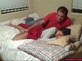 Dad grabs stepdaughter
