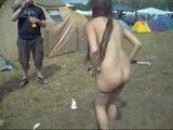 Nude slut at german festival