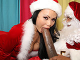 Fine ass petite Asian slut railed with 14 inch xmas gift