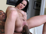 Sexy hot mama gets some black man style