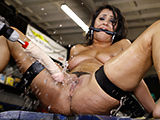 Dirty slut tied up and fucked till she gush like an oil leak