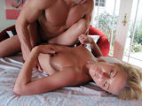Sexy oiled babe havin some intensive massage