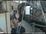 Rooftop Camera Catches Fucking