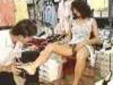 Shoe salesman motices client doesnt wear underwear