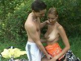 Horny teens caught fucking in a public park