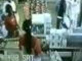 Vendor gets a brick on her head
