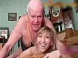 Girl can&#039;t stop laughing while grampa tries to fuck her