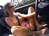 Chick masturbating while driving 60 MPH!