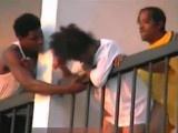 Ghetto Slut Fucked On The Balcony