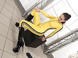 Girl in Yello latex
