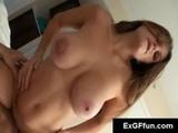 Big tits slut rides hard cock in POV