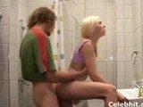 Teenagers sex in bathroom