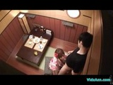 Asian Girl In Kimono Giving Blowjob For G ...