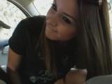 18yo college girl fucks in car
