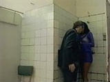 Anita Blonde fucking in public toilet