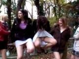 Nasty Teen Girls Having Fun In The Nature