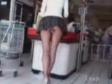 Doing A Shopping In The Supermarket With Stick In Her Ass
