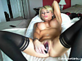 Cam; hot blonde with nice tits fucking herself 4