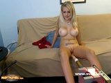 Busty Blonde Amateur Fucking Machine Webcam