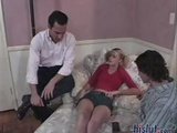 Little Blonde Paris Takes On Two Cocks And Gets Drilled With A Dp