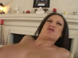 Big Tits Brunette Couch Fucked