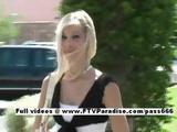 Kristina Finger Licking Tasty Teen Blonde Flashing