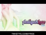 Sex young blonde Aliyah Love finger-fucks her pussy to orgasm