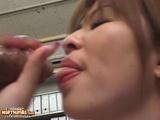 Japanese Babe Enjoys The Hardcore Threesome Sex On Table