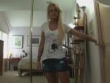 Super hot blonde making sextape