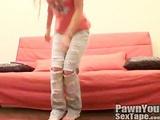 Cute amateur teen filming herself working her sweet pussy
