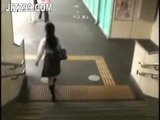 cute schoolgirl fucked by geek on train 02