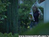 InnocentHigh Halloween Special: Sexy blonde Jess Rhodes fucked in the dark