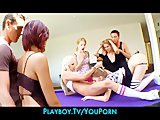 Sexy schoolgirls skip class for a house party