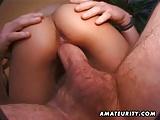 Amateur girlfriend sucks and fucks many cocks