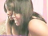 Black teen girls shake it and suck on bananas